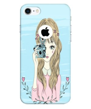 Girl with camera, Phone Cases