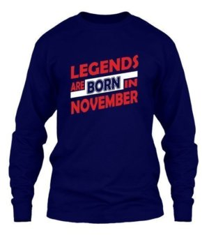 Legends are born in November, Men's Long Sleeves T-shirt