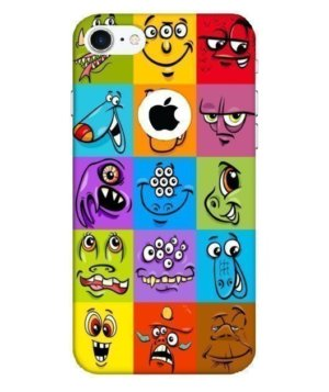 Monster faces mobile cover