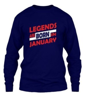 Legends are born in January, Men's Long Sleeves T-shirt