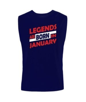 Legends are born in January, Men's Sleeveless T-shirt