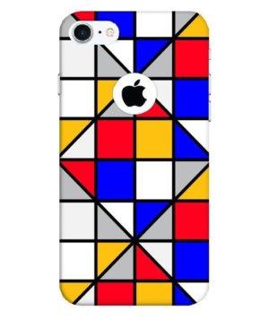 colorful diagonal squares, Phone Cases
