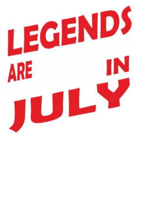 Legends are born in july, Men's Long Sleeves T-shirt