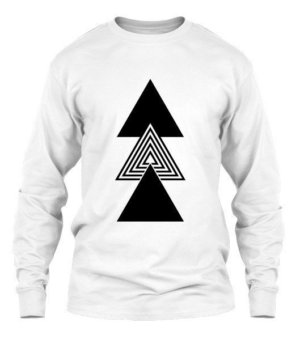 creative three triangles, Men's Long Sleeves T-shirt