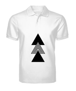 creative three triangles, Men's Polo Neck T-shirt