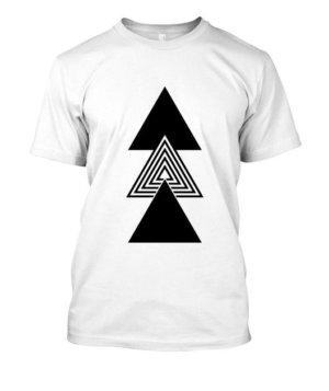 creative three triangles, Men's Round T-shirt