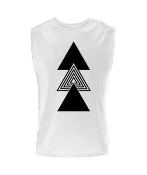 creative three triangles, Men's Sleeveless T-shirt
