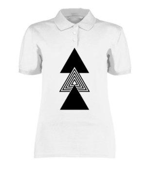 creative three triangles, Women's Polo Neck T-shirt