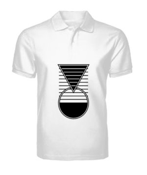 smarter geometry, Men's Polo Neck T-shirt
