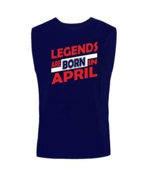 Legends are born in April, Men's Sleeveless T-shirt
