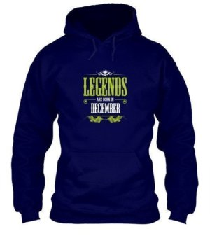 Legends are born in December, Men's Hoodies