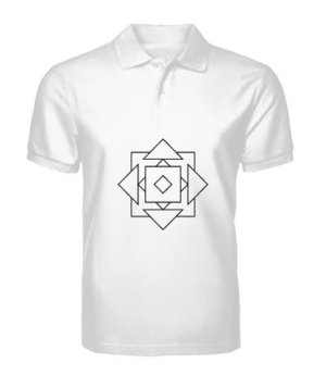 geo illusions , Men's Polo Neck T-shirt