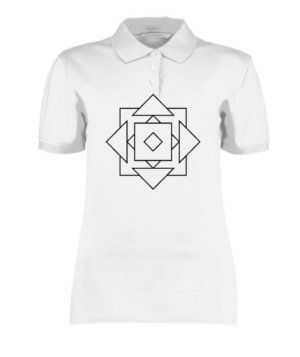 geo illusions , Women's Polo Neck T-shirt