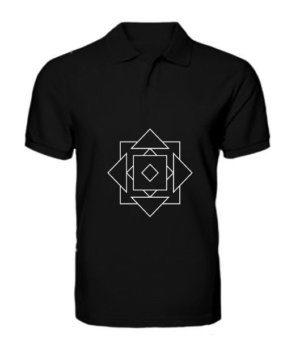 illusion geo, Men's Polo Neck T-shirt