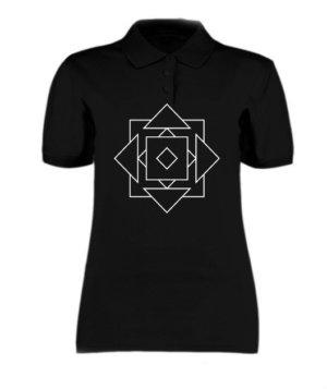 illusion geo, Women's Polo Neck T-shirt