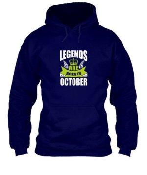 Legends are born in October, Men's Hoodies