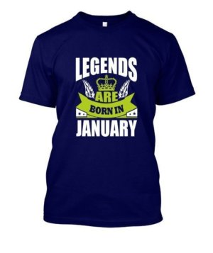 Legends are born in January, Men's Round T-shirt