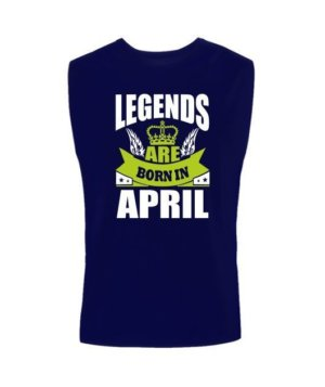 Legends are born in April, Men's Sleeveless T-shirt