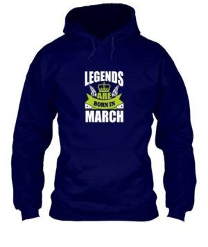Legends are born in March, Men's Hoodies