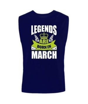 Legends are born in March, Men's Sleeveless T-shirt