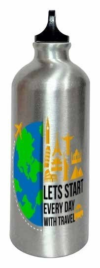 lets start every day with travel, Steel Travelling Mug