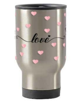 love, Steel Travelling Mug