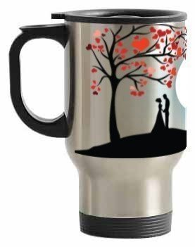 couple love, Steel Travelling Mug
