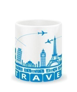 Lets start every day with TRAVEL, White Mug