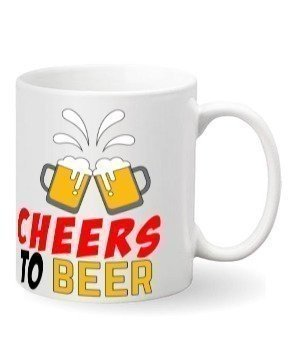 Cheers To Beer, White Mug