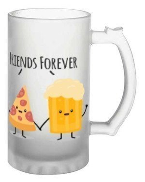 Pizza and Beer Go Together, Beer Mug