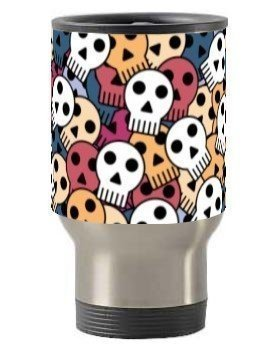 Funky Skull Mugs and Bottles, Steel Travelling Mug