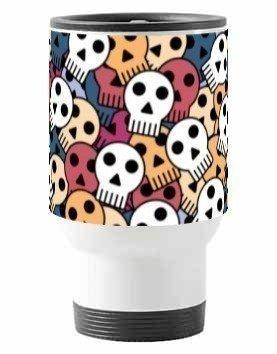 Funky Skull Mugs and Bottles, Steel Travelling Mug