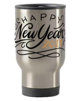 Happy New Year 2019, Steel Travelling Mug