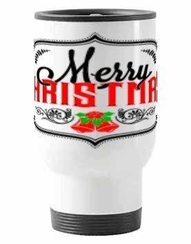 Merry Christmas Mug, Steel Travelling Mug