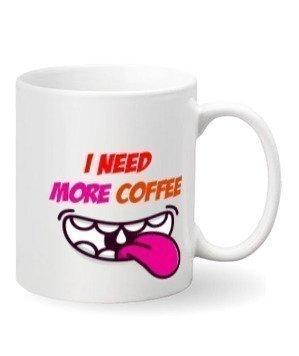 I need more coffee, Steel Travelling Mug