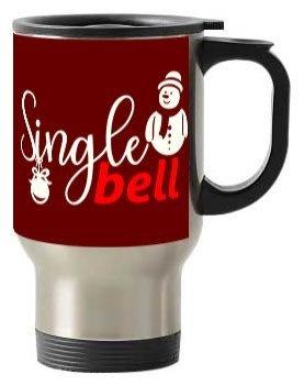 Single Bell Christmas Mug, Steel Travelling Mug