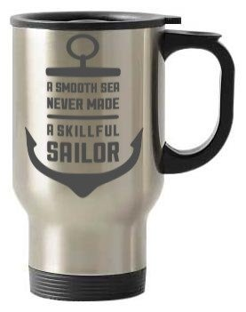Smooth sailor coffee mug, Steel Travelling Mug