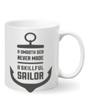 Smooth sailor coffee mug, Steel Travelling Mug