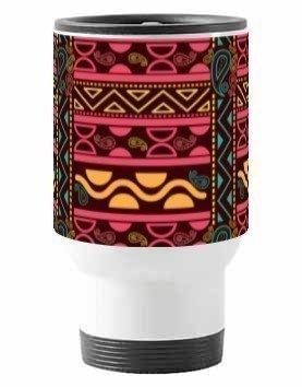 Aztec Tribal, Steel Travelling Mug