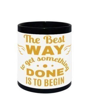 Coffee Cup, Black Mug