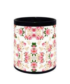 beautiful rose mugs and bottles, Black Mug