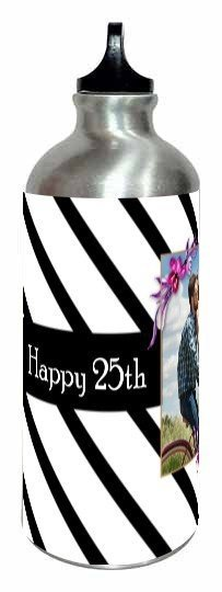 Happy 25th Wedding Anniversary mug and bottle, Steel Bottle