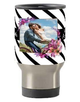 Happy 25th Wedding Anniversary mug and bottle, Steel Travelling Mug