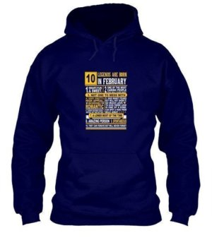 Legends are born in February, Men's Hoodies