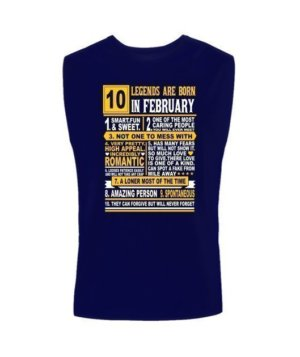 Legends are born in February, Men's Sleeveless T-shirt