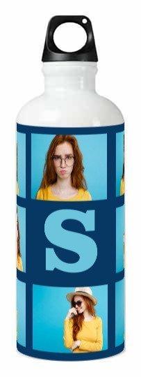 Selfie Collage Monogram Bottle