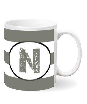Monogram mug – N