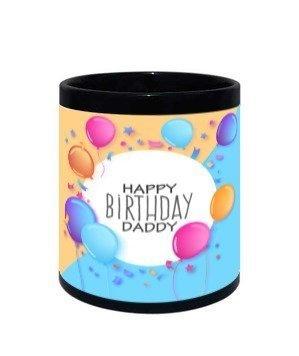 Happy birthday Daddy-mug, Black Mug
