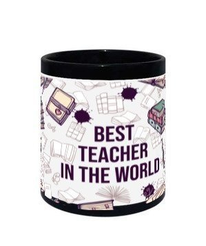 Best Teacher in the world mug , Black Mug