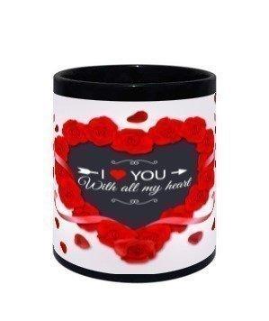I love you mug, Black Mug